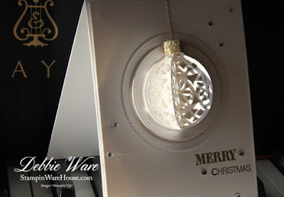 Stampin Ware House Merry Christmas 3D Ornament Card