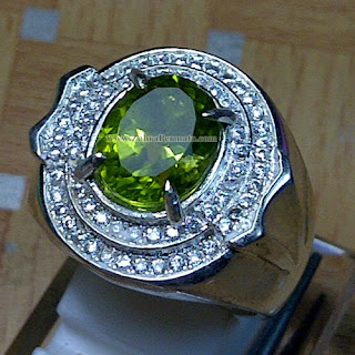 Cincin Batu Permata Green Peridote - ZP 873
