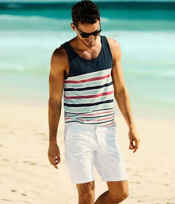 look masculino para verão com regata