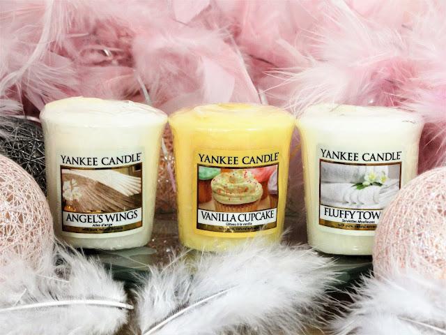 Avis Angel's Wings, Vanilla Cupcake, Fluffy Towels de Yankee Candle, blog bougie, blog beauté