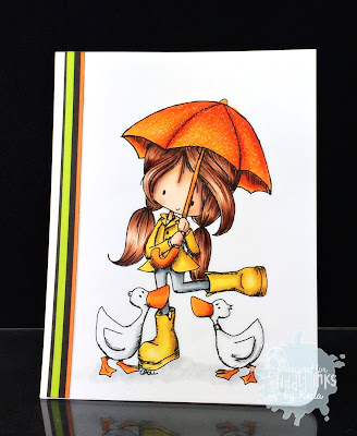 Tiddly Inks, Kecia Waters, Copic markers, ducks, rain, Wryn