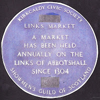 Commemorative plaque denoting the site of the Links Market