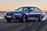 BMW M5 Saloon (2018) Front Side 2