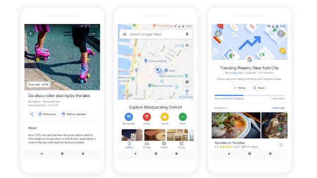 Fitur baru Google Maps : Tab Jelajah yang disusun Ulang, Perencanaan Grup, dan Lainnya