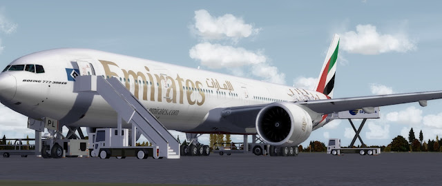 Download Emirates Boeing 777-300ER FSX/P3D | Waktu Bersimulasi