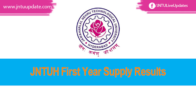 Jntuh 1st Yr Results, B.tech 1st Year Results