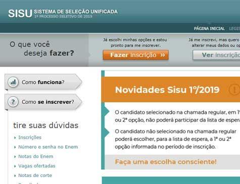 Sisu abre inscrição; em Pernambuco, há mais de 13 mil vagas