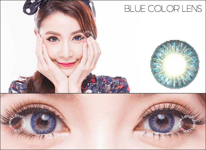 geo tricolor blue circle lenses