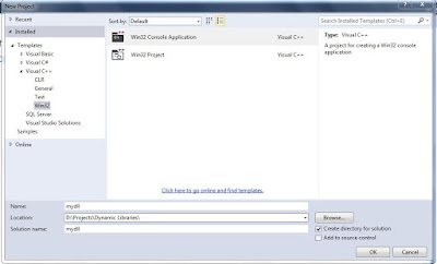 Create a Win32 Console Application in Visual C++