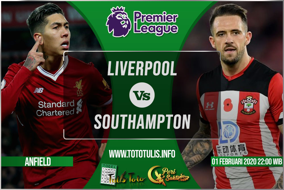 Prediksi Liverpool vs Southampton 01 Februari 2020