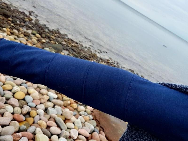 Geneva Raglantee  aus blauem Jersey von stoffbüro