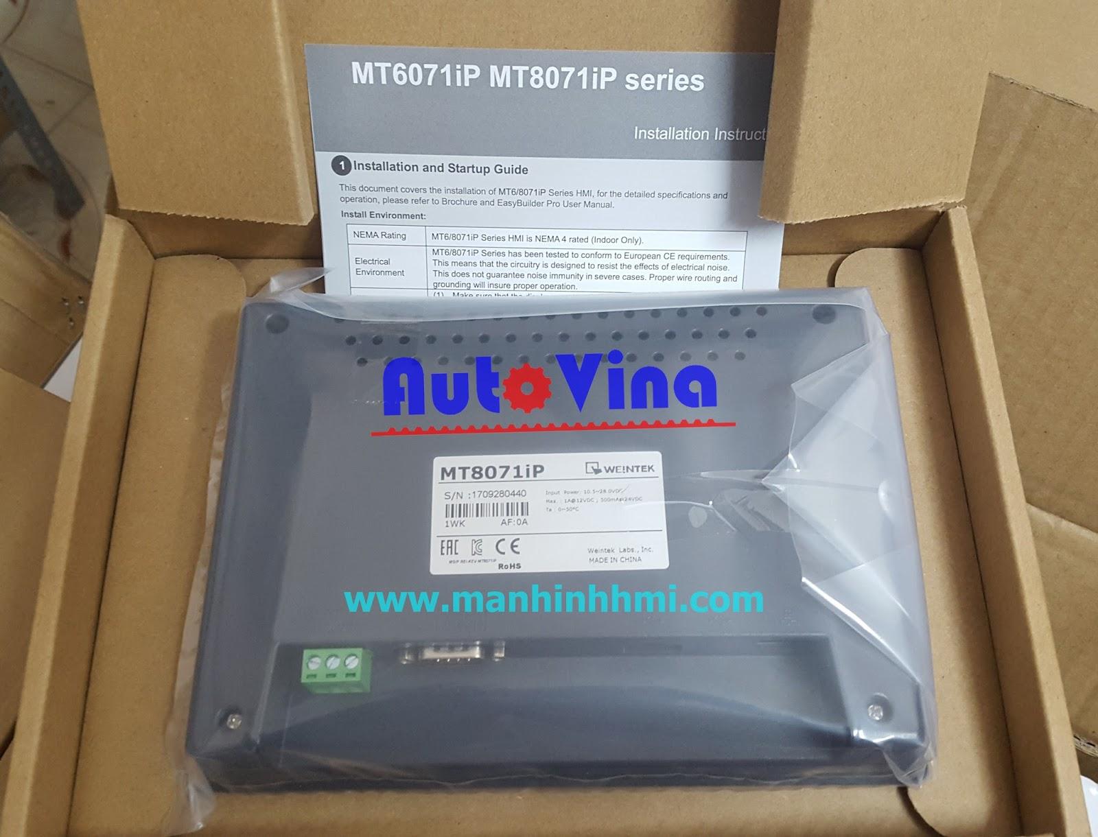 Đại lý bán màn hình cảm ứng HMI MT8071iP, hàng luôn có sẵn trong kho công ty Auto Vina
