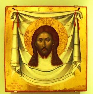 το έργο Το Άγιο Μανδήλιο του Εμμανουήλ Τζάνε του στο Μουσείο Μπενάκη