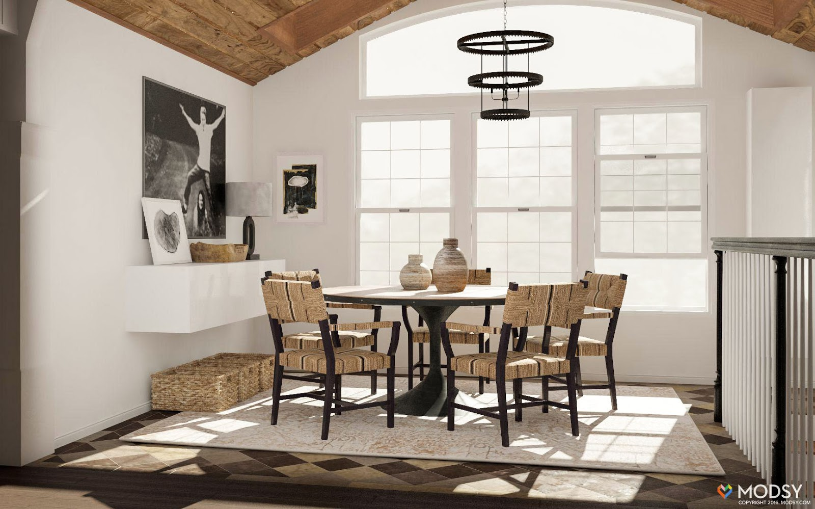 Lets Do One More Modsy Rendering Followed By House My Dining Room Looks  Today: