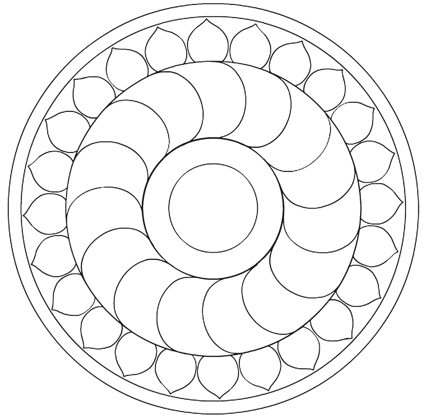 Smile will save the day: Mandalas coloring pages