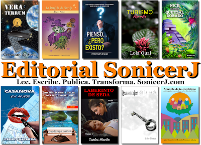 Algunos de los libros publicados por la editorial SonicerJ