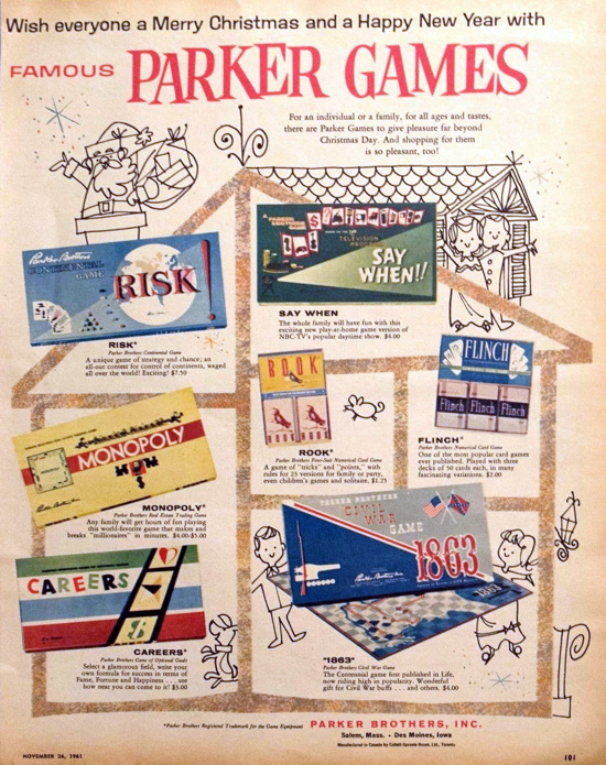Risk advertising Christmas 1961
