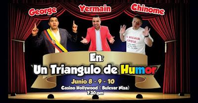 GEORGE, YERMAIN Y CHINOME EN UN TRIÁNGULO DE HUMOR