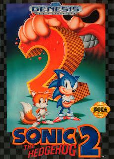Portada del cartucho de Sega Genesis Sonic 2, 1992