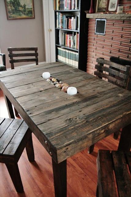 móveis com madeira paletes