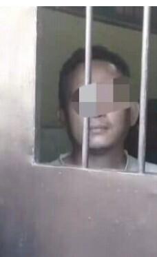 Aipda Saperio Pinem oknum polisi di Polres Asahan penghina Nabi Muhammad di facebook.