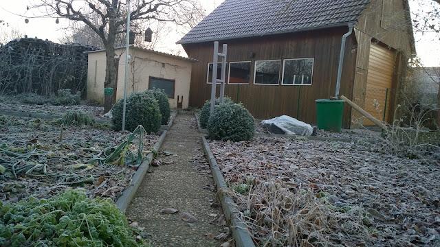 Leere und viel Platz ist im Winter im Gemüsegarten (c) by Joachim  Wenk