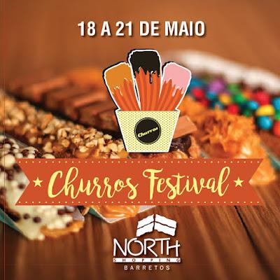 Festival de Food Truck de Churros & Hambúrguer acontece no estacionamento do North Shopping