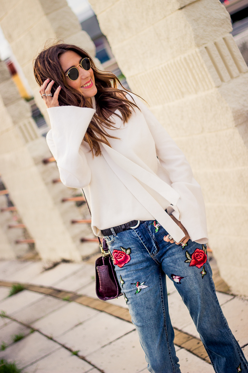 jeans bordados zara