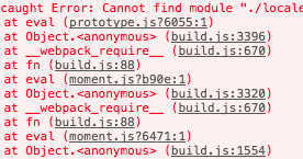Flummoxed by IT: moment js Module not found: Error: Can't