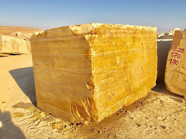 Yellow Travertine Blocks