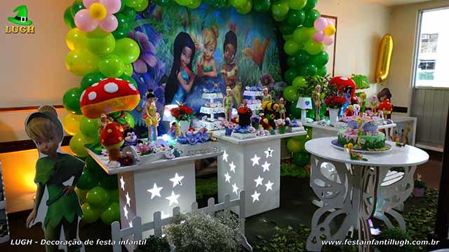 Mesa decorativa tinker Bell para festa de aniversário infantil - Barra da Tijuca - Rio de Janeiro (RJ)