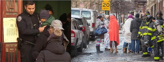 Numerosas familias dominicanas desplazadas por voraces  incendios en vecindarios del Alto  Manhattan y El Bronx