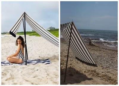 Parasol-Sombrilla tipo tienda recta para la playa