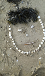 Shell face in the sand