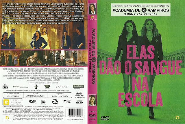 Capa DVD Academia de Vampiros: O Beijo das Sombras