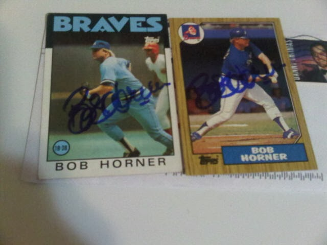 my ttm baseball autographs former atlanta brave bob horner is