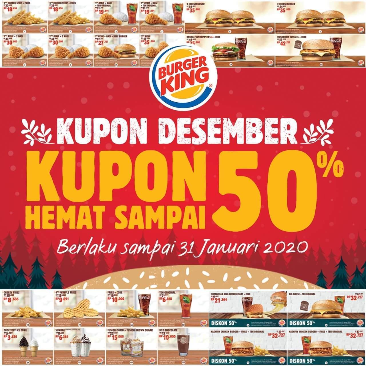 Promo Burger King Terbaru Kupon Desember 2019 Hemat Hingga 50 Harga Diskon