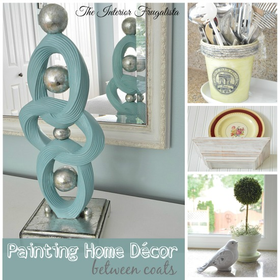 Four Home Decor Makeovers between coats of paint drying