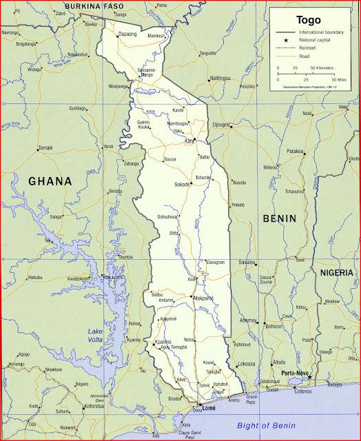 image: Togo Political map