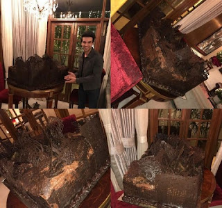 The biggest attraction at the event in his house was fifty kg birthday cake. Manish Malhotra's nephew Director Puneeth Malhotra has shared the picture of the cake on the social media