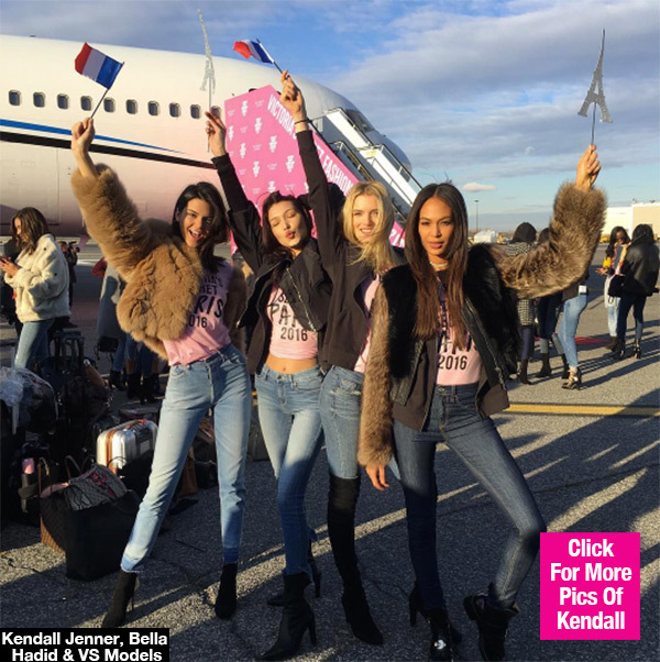 Kendall Jenner & Bella Hadid Define Squad Goals As They Jet Off To VS Fashion Show
