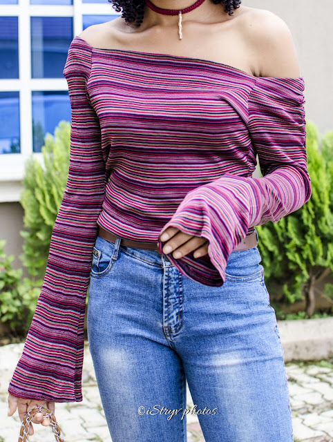 stripped-off-shoulder-bell-sleeve-top-nigerian-style-fashion-blogger