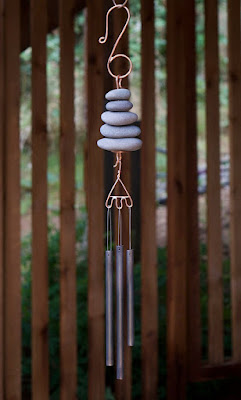 Natural Pacific Beach Stone Wind Chimes by Coast Chimes