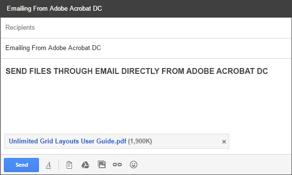 Sending PDF as attachment using Gmail