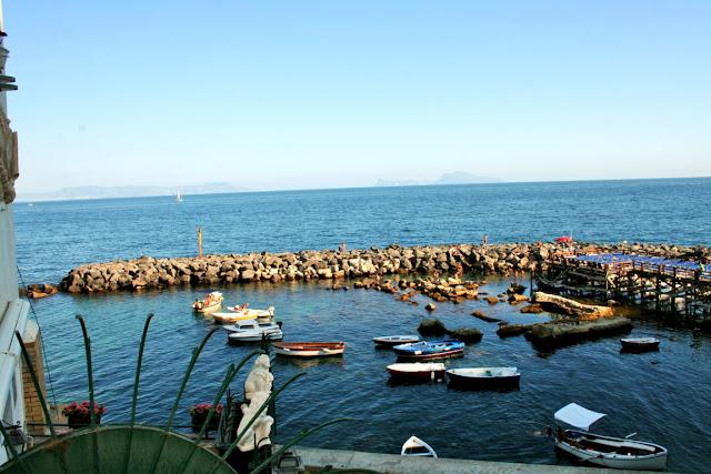 barche, mare, acqua, veduta, Marechiaro, cielo
