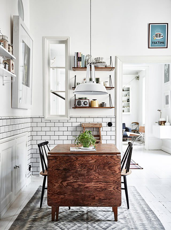 Casual scandinavian kitchen. Photo by Andrea Papini