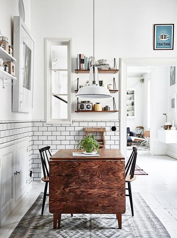 Casual scandinavian kitchen. Photo by Andrea Papini