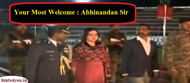 Returned to IAF pilot congratulations Vardhman, Pakistan handed over to India on Wagah border.  Wing Commander of Indian Air Force (IAF) Abhinandan Varthaman has returned to Vatman. Pakistan has handed Wing Commander congratulations to India.