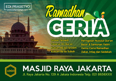 Download Backdrop Kegiatan Ramadhan 2017 Gratis