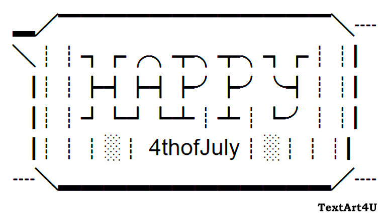 Happy 4th Of July Unicode Text Art For Status Comments Cool